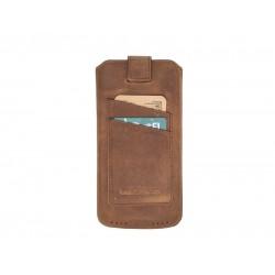 Bouletta Multi Case-CC Deri Telefon Kılıfı Samsung S10 G2 Kahve