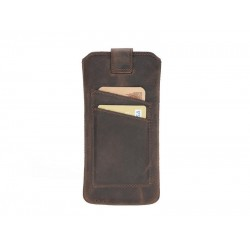 Bouletta Multi Case-CC Deri Telefon Kılıfı Samsung S10+ G6 Kahve