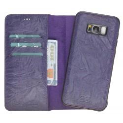 Bouletta Magic Wallet Deri Telefon Kılıfı-Arka Kapak-Samsung S8-B13 Mor