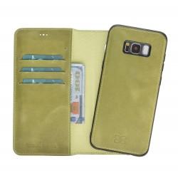 Bouletta Magic Wallet Deri Telefon Kılıfı-Arka Kapak-Samsung S8-CZ09 Açık Yeşil