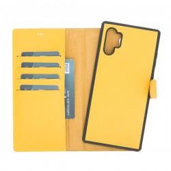 Bouletta MW Deri Arka Kapak+Kılıf Samsung Note10+ FL12 Sarı