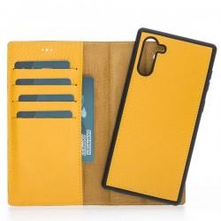 Bouletta MW Deri Arka Kapak+Kılıf Samsung Note10 FL12 Sarı