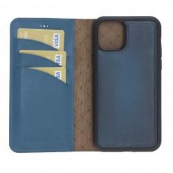 Bouletta MW Deri Telefon Kılıfı iPhone 11 Pro BRN4EF Mavi
