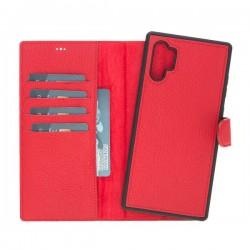 Bouletta MW Deri Arka Kapak+Kılıf Samsung Note10+ ERC2 Kırmızı
