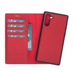 Bouletta MW Deri Arka Kapak+Kılıf Samsung Note10 ERC2 Kırmızı