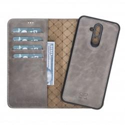 Bouletta MW Deri Telefon Kılıfı Huawei Mate 20 Lite Gri