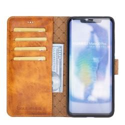 Bouletta MW Deri Telefon Kılıfı Huawei Mate 20 Pro V18 Taba
