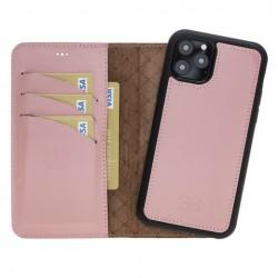 Bouletta MW Deri Telefon Kılıfı iPhone 11 Pro NU2 Pembe RFID