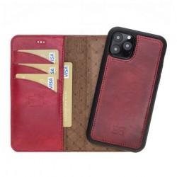Bouletta MW Deri Telefon Kılıfı iPhone 11 Pro V4EF Kırmızı RFID