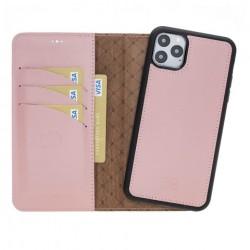 Bouletta MW Deri Telefon Kılıfı iPhone 11 ProMax NU2 Pembe RFID