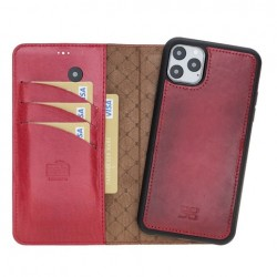 Bouletta MW Deri Telefon Kılıfı iPhone 11 ProMax V4EF Kırmızı RFID