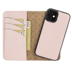 Bouletta MW Deri Telefon Kılıfı iPhone 12 mini NU2 Pembe RFID