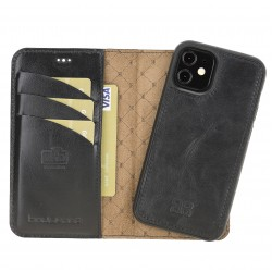Bouletta MW Deri Telefon Kılıfı iPhone 12 mini RST1 Siyah RFID