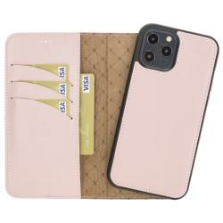 Bouletta MW Deri Telefon Kılıfı iPhone 12 Pro Max NU2 Pembe RFID