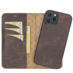 Bouletta MW Deri Telefon Kılıfı iPhone 12 Pro Max TN03 Kahve RFID