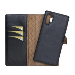 Bouletta MW Deri Telefon Kılıfı  Samsung Note 10+ RST1 Siyah RFID