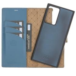 Bouletta MW Deri Telefon Kılıfı Samsung Note 20 Ultra RFID BRN4EF Mavi