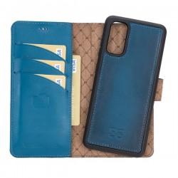 Bouletta MW Deri Telefon Kılıfı Samsung S20 BRN4EF Mavi RFID