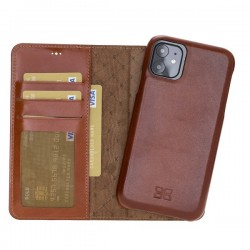 Bouletta MW F360 Deri Telefon Kılıfı iPhone 11 6.1-RST2EF Taba RFID