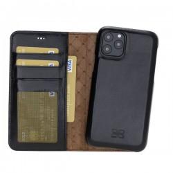 Bouletta MW F360 Deri Telefon Kılıfı iPhone 11 Pro 5.8-RST1 Siyah RFID