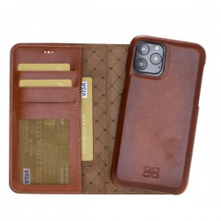 Bouletta MW F360 Deri Telefon Kılıfı iPhone 11 Pro 5.8-RST2EF Taba RFID