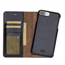 Bouletta MW F360 Deri Telefon Kılıfı iPhone 7-8 Plus RST1 Siyah RFID