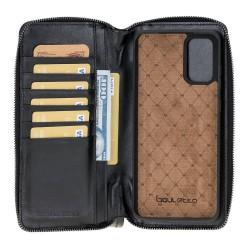 Bouletta MW Pouch Deri Telefon Kılıfı  Samsung S20+ RST1 Siyah RFID