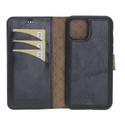 Bouletta MW RFDli Deri Arka Kapak+Kılıf iPhone 11 6.1inç RST1 Siyah