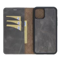Bouletta MW Deri Telefon Kılıfı iPhone11 ProMax TN18EF Gri RFID