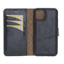 Bouletta MW Deri Telefon Kılıfı iPhone 11 ProMax RST1 Siyah RFID
