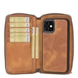 Bouletta MW Pouch Deri Telefon Kılıfı iPhone 12 mini TN11 Taba RFID