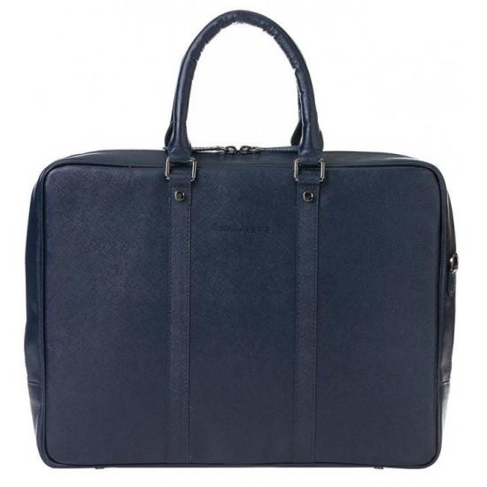 Barchello Sardis Deri Laptop Çantası SNB Mavi