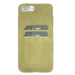 Bouletta Ultra Cover-CC  Deri Telefon Kılıfı iPhone 7-8 Plus CZ09 Yeşil
