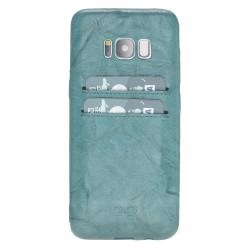 Bouletta UC-CC Arka Kapak Samsung S8 Deri Telefon Kılıfı B14 Yeşil