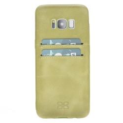 Bouletta UC-CC Arka Kapak Samsung S8 Deri Telefon Kılıfı CZ09 Yeşil