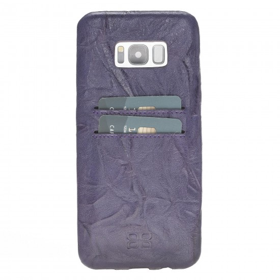 Bouletta Ultra Cover-CC  Deri Telefon Kılıfı Samsung S8 Plus B13 Mor