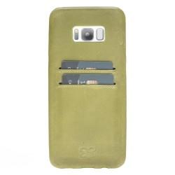 Bouletta UC-CC Arka Kapak Samsung S8 Plus Deri Telefon Kılıfı CZ09 Yeşil