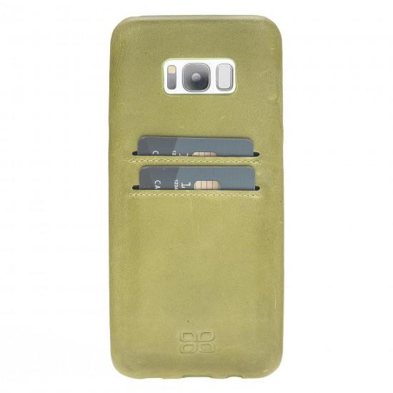 Bouletta Ultra Cover-CC  Deri Telefon Kılıfı Samsung S8 Plus CZ09 Yeşil
