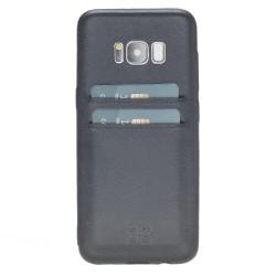 Bouletta UC-CC Arka Kapak Samsung S8 Deri Telefon Kılıfı Mavi
