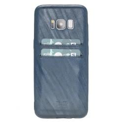 Bouletta UC-CC Arka Kapak Samsung S8 Deri Telefon Kılıfı Turkuaz