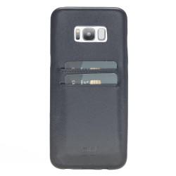 Bouletta UC-CC Arka Kapak Samsung S8 Plus Deri Telefon Kılıfı Mavi