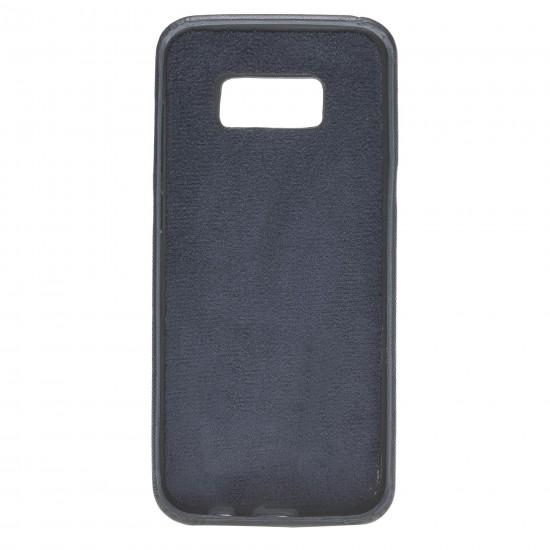Bouletta Ultra Cover-CC  Deri Telefon Kılıfı Samsung S8 Plus Mavi