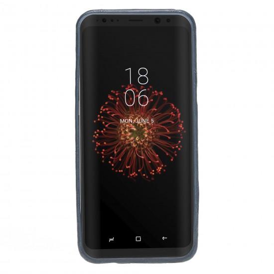 Bouletta Ultra Cover-CC  Deri Telefon Kılıfı Samsung S8 Plus Turkuaz