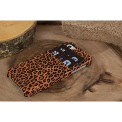 Bouletta Ultimate Jacket-CC Deri Telefon Kılıfı iPhone 5-5s-SE  Leopar