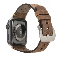 Bouletta Vigo Sport Toka Apple Watch Deri Kordon 42-44mm G2 Kahve