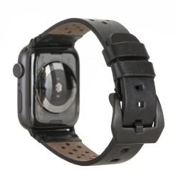 Bouletta Vigo Sport Toka Apple Watch Deri Kordon 42-44mm RST1 Siyah