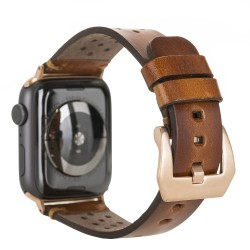 Bouletta Vigo Sport Toka Apple Watch Deri Kordon 42-44mm RST2EF Taba