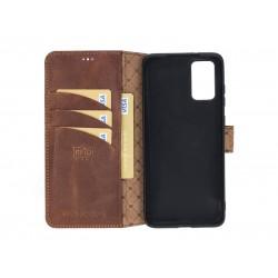 Bouletta Wallet Case Deri Telefon Kılıfı Samsung S20+ G2 Kahverengi