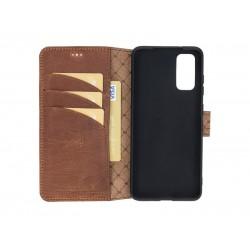 Bouletta Wallet Case Deri Telefon Kılıfı Samsung S20 G2 Kahverengi