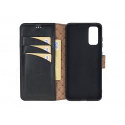Bouletta Wallet Case Deri Telefon Kılıfı Samsung S20+ RST1 Siyah